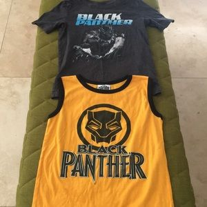 💋3/$15 Black Panther T-shirt Lot of Two Size 5